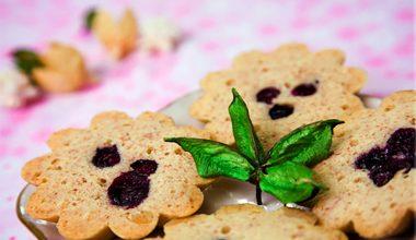 Bánh hạnh nhân việt quất - Blueberry almond cakelets